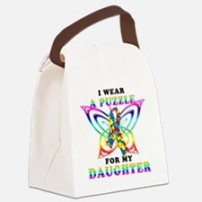 I Wear A Puzzle for my Daughter Canvas Lunch Bag