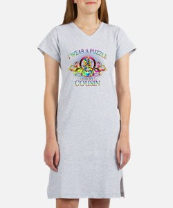 I Wear A Puzzle for my Cousin ( Women's Nightshirt