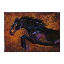 Shimmering Strength art by Janet Fe 5'x7'Area Rug