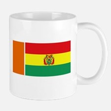 irish bolivian flags rect white Mug