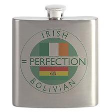 irish bolivian flags round Flask
