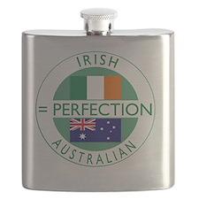 irish australian flags round Flask