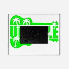 hawaiian ukulele uke palm tree desig Picture Frame