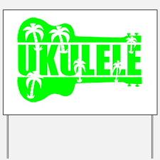 hawaiian ukulele uke palm tree design Yard Sign