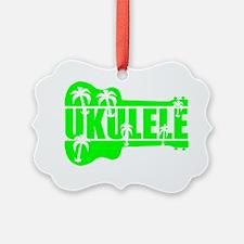 hawaiian ukulele uke palm tree de Ornament