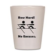 Row Hard Black Shot Glass