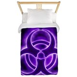 Biohazard symbol Luxe Twin Duvet Cover