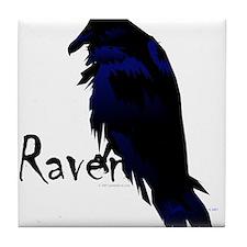 Raven on Raven Tile Coaster