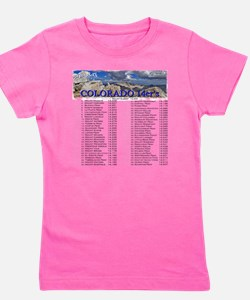CO 14ers List T-Shirt NO BKGRND Girl's Tee
