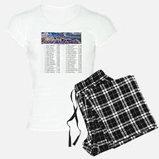 CO 14ers List T-Shirt NO BK Pajamas