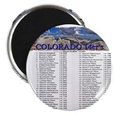 CO 14ers List T-Shirt NO BKGRND Magnet