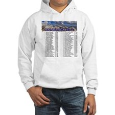 CO 14ers List T-Shirt NO BKGRND Hoodie