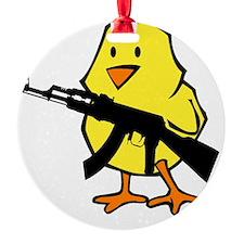 black gun chick Ornament