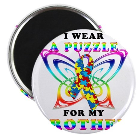 I Wear A Puzzle for my Brother Magnet