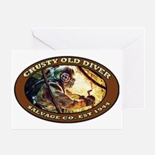 CRUSTY OLD DIVER SALVAGE CO. Greeting Card