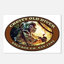 CRUSTY OLD DIVER SALVAGE  Postcards (Package of 8)