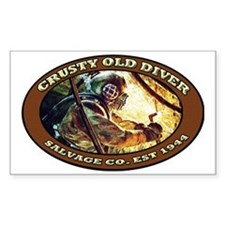 CRUSTY OLD DIVER SALVAGE CO. Decal