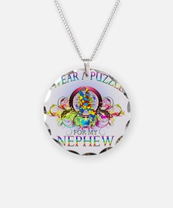 I Wear A Puzzle for my Nephe Necklace