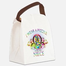 I Wear A Puzzle for my Niece (flo Canvas Lunch Bag