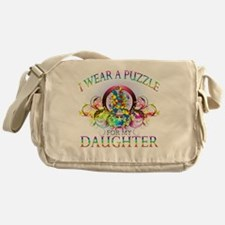I Wear A Puzzle for my Daughter (flo Messenger Bag