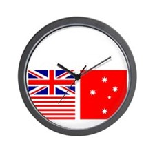 Design_for_Australian_Flag-DCW-Dark Wall Clock