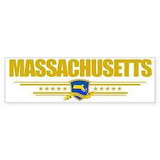 Massachusetts (Flag 10) pocket Bumper Sticker