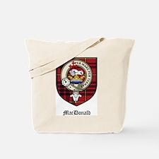 MacDonald Clan Crest Tartan Tote Bag
