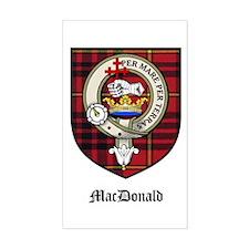 MacDonald Clan Crest Tartan Rectangle Bumper Stickers