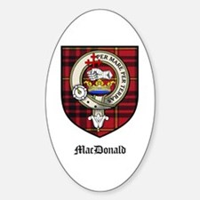 MacDonald Clan Crest Tartan Oval Decal