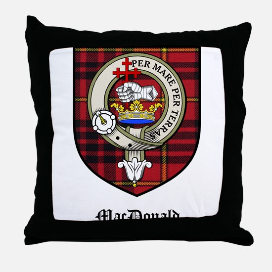 MacDonald Clan Crest Tartan Throw Pillow