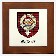 MacDonald Clan Crest Tartan Framed Tile
