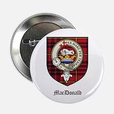 """MacDonald Clan Crest Tartan 2.25"""" Button (10 pack)"""