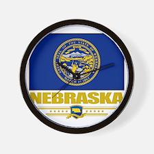 Nebraska (Flag 10) Wall Clock