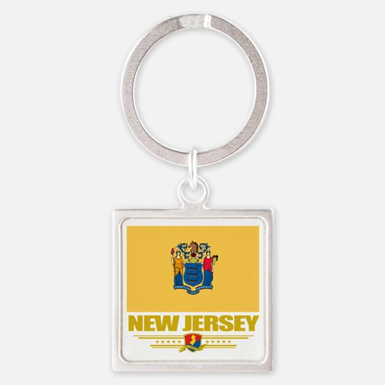 New Jersey (Flag 10) Square Keychain