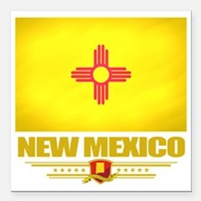 "New Mexico (Flag 10) Square Car Magnet 3"" x 3"""