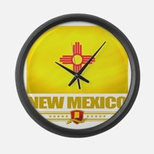 New Mexico (Flag 10) Large Wall Clock