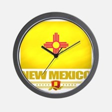 New Mexico (Flag 10) Wall Clock