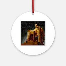 lincoln_memorial_mosaic_terrylynch Round Ornament