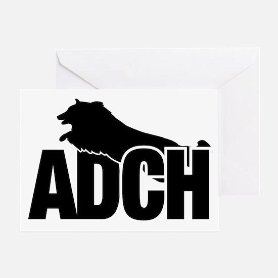 ADCHStickerSheltie Greeting Card