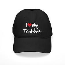 I-heart-my-triathlete-handofsean-white Baseball Hat