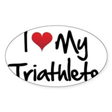 I-heart-my-triathlete-handofsean Decal
