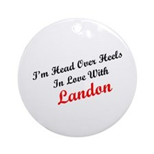 In Love with Landon Ornament (Round)