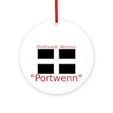 Portwenn_Dark Round Ornament