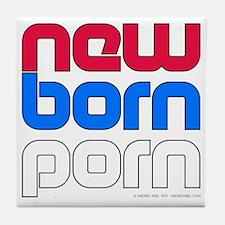 New Born Porn (alt) Tile Coaster
