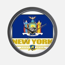 New York (Flag 10) Wall Clock