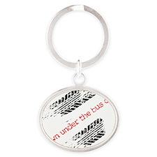 ThrownUnderTheBusFront copy Oval Keychain