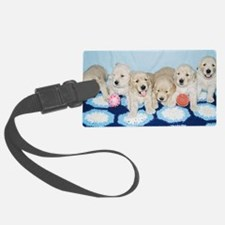 Golden Retriever Puppies License Luggage Tag