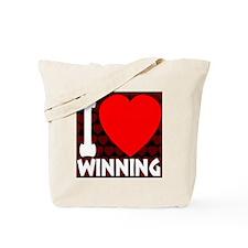 ilove_winning_blackandred_30percent Tote Bag