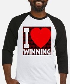 ilove_winning_blackandred_30percen Baseball Jersey