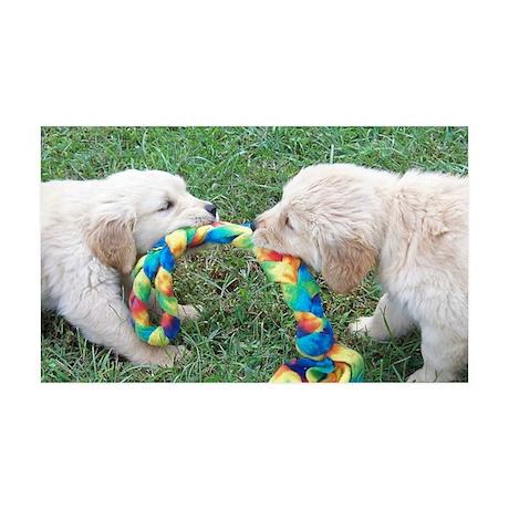 Golden Retriever Puppy License Pl 35x21 Wall Decal
